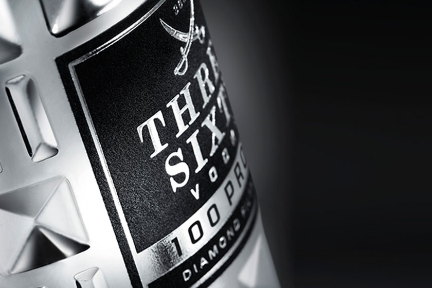 THREE SIXTY VODKA - Label